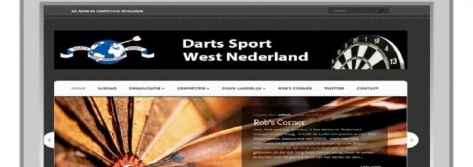 Nieuwe website Darts Sport West Nederland