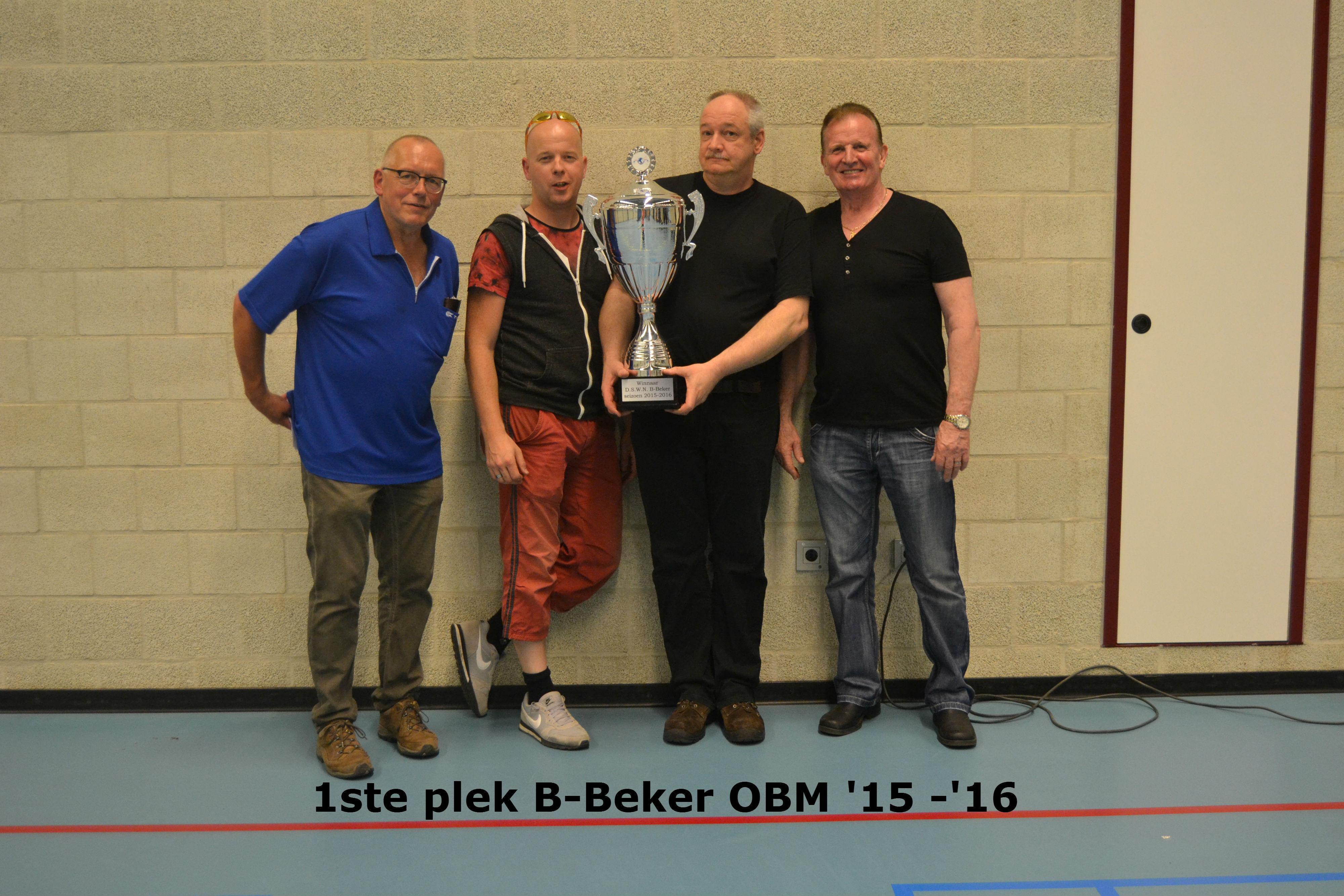 1ste plek B-Beker OBM
