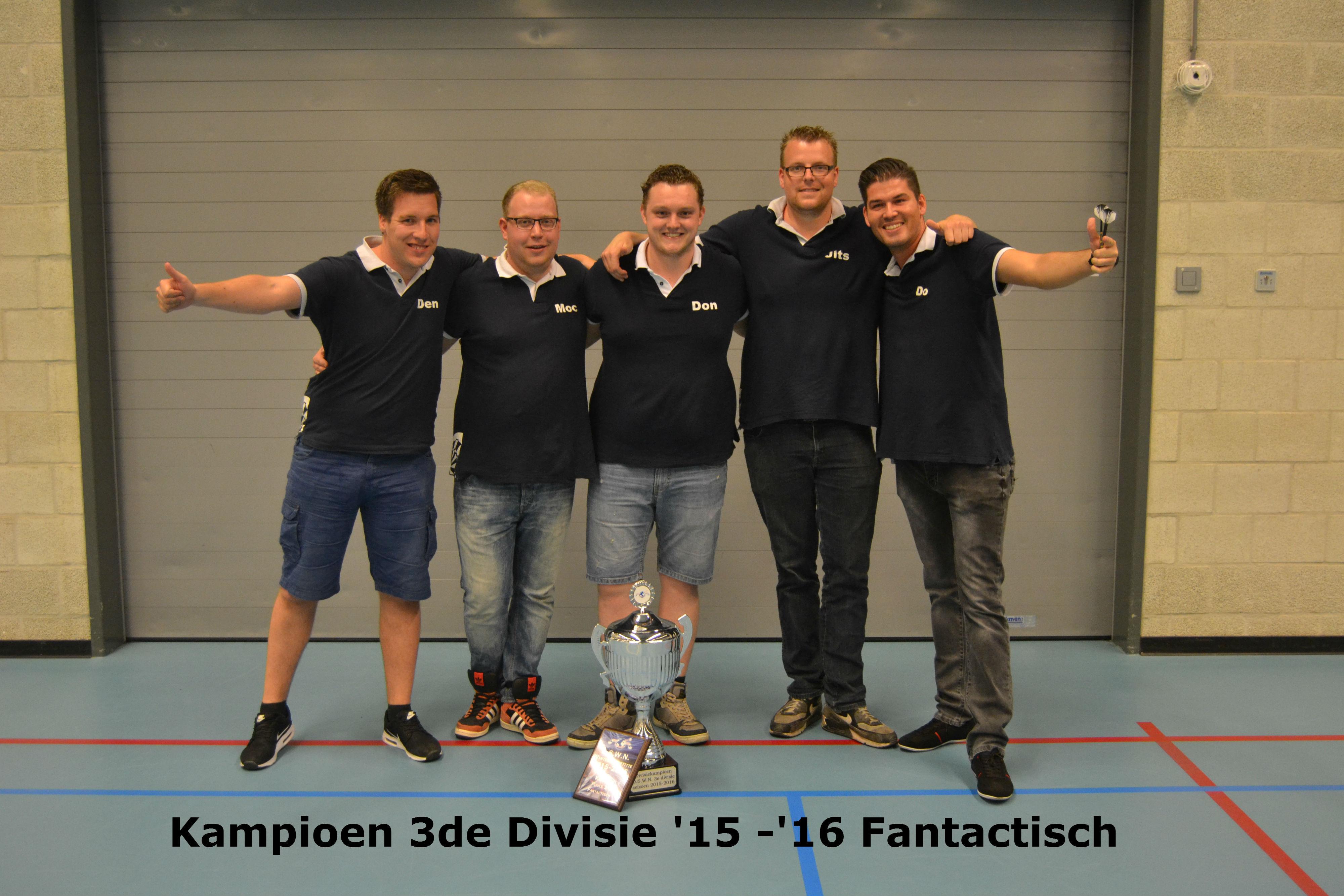 Kampioen 3e divisie Fantactisch